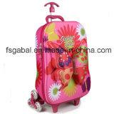 3D EVA Embossed Butterfly Kids Travel Trolley Lugage Bag