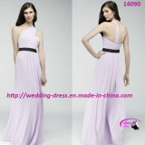 New Fresh Purple Bridesmaids Dress with One-Shoulder