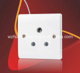 5A 1 Gang Round Pin Socket Outlet