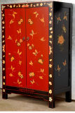 Chinese Antique Painted Wooden Wedding Cabinet Lwb733