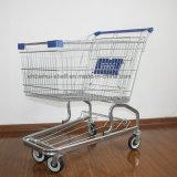 4 Wheels Steel Chrome Galvanized Supermarket Shopping Trolley