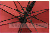 Advertising Umbrella Logo Customized Auto Open Golf Umbrella with Plastic Hook Handle