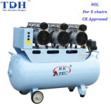 CE Approved Powerful 90L Dental Air Compressor (TDH-180/90)