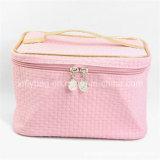 Pink PU Makeup Case with Zipper Fly-Cbg-043