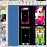 Making Mobile Skin Software/Sticker Print and Cut Plotter/Mobile Skin Printer