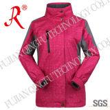 Hooded Waterproof Outdoor Jacket with Micro Fleece (QF-648)