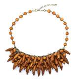 New Fashion Jewelry Wood Beaded Choker Pendant Necklace