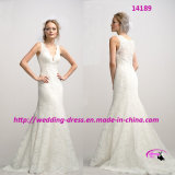 Princess Fit and Flare Wedding Dress with V-Neckline