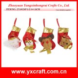 Christmas Decoration (ZY14Y247-1-2-3-4) Christmas Hanging Stocking Christmas Deco Item