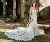 Long Sleeves Bridal Gowns 2018 New Lace Custom Mermaid Wedding Dresses Z3004