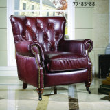 Nice Quality New Classic Leather Sofa Chair (630)