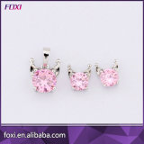 Colorful Flower Design Zircon Jewelry Sets for Adults Daily Wear
