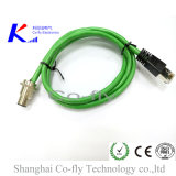 M12 Front Mounted Plug with Rj 45 Male Adapter
