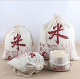 Natural Cotton Drawtring Bag & Canvas Rice Packing Bag with Custom Logo