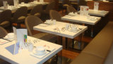 2 Person Dining Table White Marble Top Table and Chair Coffee Shop Acrylic Dining Table