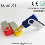 USB Flash Disk de Swivel del metal para Promotion Gifts
