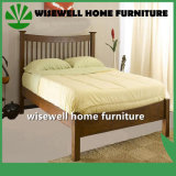 Pine Mission Style Slat Double Bed Room Furniture (W-B-0056)
