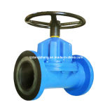 Rubber Lined Diaphragm Valve Hand Wheel Operation