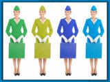Wholesale Women Professional Slim Airline Stewardess Uniforms