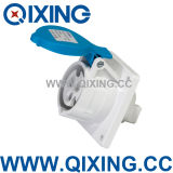 IP44 Cee/IEC 16A 3p Blue Industrial Socket (QX1366)