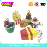 Lovely Delicious Cakes Popcorn Chips Silver Charm for Foodie