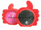 China Wholesale Creative Finger Shape Home Decoration Silent Silicone Mini Table Alarm Clock