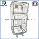 4-Sides Nestable and Foldable Laundry Roll Cart