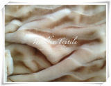 Short Pile Boa Plush Fur with Printed and Cutting