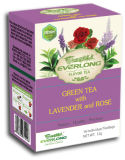 Lavender Flavored Green Tea Pyramid Tea Bag Premium Blends Organic & EU Compliant (FTB1510)