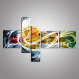 3D Metal Wall Art with Abstract Design for Wall Hanging