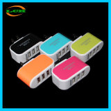 Fluorescent 3 Ports Multifunction 2A Phone Charging Plug for Android/Ios