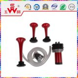 Red Color Three Speaker Horn for Cars