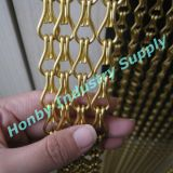 Gold Color Plated Metal Double Chain for Bag Decoration