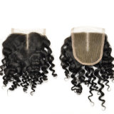 100% Virgin Hair Middle Parted Kinky Curl Lace Closures