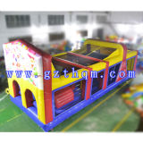 Kids Giant Inflatable Obstacle Course Laminated for Amusement Park