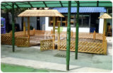 Kaiqi Children Wooden Outdoor Playground Sets for Residential Park, Back Yard, Hotel Gardenl (KQ60094A-I)
