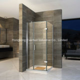 6/8mm Tempered Glass Hinge Square Bathroom Shower Cabinet