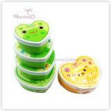 4PCS Food Storage Container Set Plastic PP Kids Lunch Box