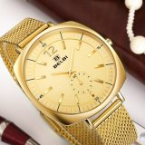 Belbi Fashion Business Stainless Steel Christmas Gift Male Square Wristwatch