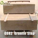 G682 Sunset Yellow Rusty Granite Step/Treads/Stairs