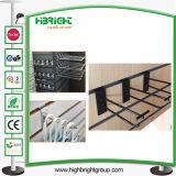 4 Inch Black Double Metal Slatwall Hooks
