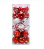 24PCS 6cm Christmas Decorations for Home Balls Pendant Accessories Christmas Ornaments Tree Hanging Ball DIY Baubles Gifts
