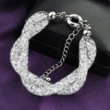 Handmade Fashion Wholesale Jewelry White Gold Crystal Bead Bracelet