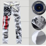 Hot Fashion Men's Printed Design Casual Jeans