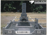 Granite Stone Monument / Tombstone with Custom Design - Tt35