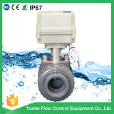 Electric motorized PVC ball valve