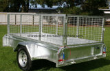 Checker Plater Welded Box Trailer with Optional Cage