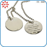 35mm Silver Dog Tag Set Chains