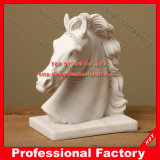 Horse Head Marble Statue for Home or Garden Decoration