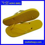 Yellow PE Custom Print Women Beach Slipper (14G042)